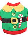 Chat / Chien Costume / T-shirt Vert Vetements pour Chien Hiver / Printemps/Automne Couleur Pleine Mignon / Cosplay
