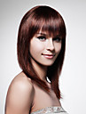 Capless Long 100% Human Hair Brown Straight Hair Wig