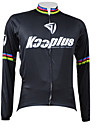 KOOPLUS® Cykeltröja Herr Lång ärm Cykel Andningsfunktion / Håller värmen / Snabb tork / Dragkedja fram Tröja / Överdelar 100% Polyester