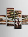 Dipinta a mano Paesaggi Quattro Pannelli Tela Hang-Dipinto ad olio For Decorazioni per la casa