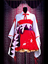Inspired by Vocaloid Hatsune Miku Video Game Cosplay Costumes Cosplay Suits / Kimono Patchwork Red Long Sleeve Dress / Belt