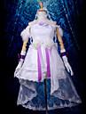 Inspirerad av Vocaloid Hagane Miku Video Spel Cosplay Kostymer/Dräkter cosplay Suits Lappverk Vit Topp