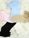 chaussettes princesse couleur pure de coton lolita avec dentelle (6 couleurs)