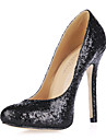 Spring / Summer / Fall / Winter Heels Glitter Office & Career Stiletto Heel Sequin Black / Blue / Red / Silver / Gold