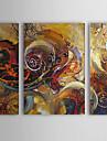 Peint a la main Abstrait Trois Panneaux Toile Peinture a l\'huile Hang-peint For Decoration d\'interieur