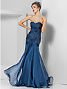 Prom / Formal Evening / Military Ball Dress - Open Back Plus Size / Petite Trumpet / Mermaid Strapless / Sweetheart Floor-length Chiffon