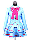 Inspired by Pretty Cure Cosplay Anime Cosplay Costumes Cosplay Suits / School Uniforms Patchwork Blue Long SleeveCoat / Blouse / Skirt /