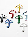 clips de papel coloridos paraguas de estilo (color al azar, 10-pack)