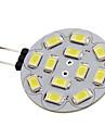 6W G4 LED-spotlights 12 SMD 5730 570 lm Naturlig vit DC 12 V