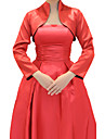 Wedding  Wraps Coats/Jackets Long Sleeve Stretch Satin As Picture Shown Wedding / Party/Evening High Neck T-shirt Open Front