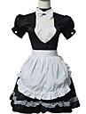 Une Piece/Robes Doux Lolita Cosplay Vetrements Lolita Mosaique Manches courtes Court Robe Cache-col Tablier Pour Coton