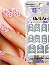 3st Blandad stil papper nagel konst Image Stamp klistermärken LK Serie No.28