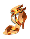 Chaussures de danse (Or Talon aiguille - Satin - Danse latine/Salle de bal