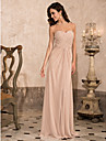 Prom/Military Ball/Formal Evening Dress Sheath/Column Strapless/Sweetheart/Spaghetti Straps Floor-length Chiffon
