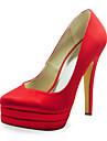 Women\'s Wedding Shoes Heels/Platform Heels Wedding Black/Blue/Pink/Purple/Red/Ivory/White/Silver/Gold/Champagne