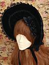 Accessoires de Lolita Gothique Lolita Lolita Noir Accessoires Lolita  Fabrication CAP Chapeau Dentelle Pour Femme Velours