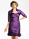 Wedding  Wraps Coats/Jackets Half-Sleeve Taffeta Purple Wedding / Party/Evening T-shirt Open Front