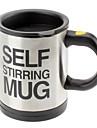 mug auto d\'agitation en acier inoxydable (2xAAA)