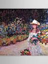 Beruehmte OElgemaelde eines jungen Maedchens im Garten in Giverny von Claude Monet