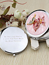 Personalized Butterly Design Chrome Compact Mirror Favor With Rhinestone