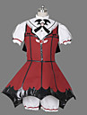 Une Piece/Robes Gothique Lolita Cosplay Vetrements Lolita Mosaique Manches courtes Court Chemisier Robe Short Bandeau Gants PourCoton