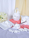 Chic Wedding Collection Set In White Satin With Pretty Flower (6 Pieces)