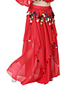 Dancewear Chiffon with Coins Belly Dance Skirts For Children More Colors