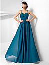 TS Couture Formal Evening Military Ball Dress - Open Back A-line Princess Sweetheart Spaghetti Straps Floor-length Chiffon withBeading