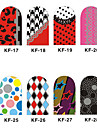 12PCS 3D Full-couvrir Nail Art Stickers Cartoon Spot Les Series (n ° 3, couleurs assorties)