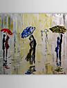 HANDMÅLAD Människor En panel Kanvas Hang målad oljemålning For Hem-dekoration