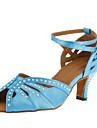 """Scarpe da ballo - Disponibile """"su misura"""" - Donna - Latinoamericano / Sala da ballo - Customized Heel - Satin - Nero / Blu"""