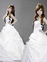 Strapless Floor-length White Satin Princess Lolita Dress