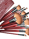 22PCS Professional Cosmetic Makeup Brush Set with Fashion Leather Bag