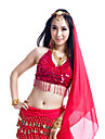 Performance Dancewear Polyester With Sequins Belly Dance Top For Ladies(More Colors)