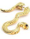 aliaj de aur în formă de șarpe cercei unice (1 buc)