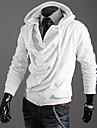 för män enfärgad falska två hoodie tröja