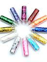 12st Flera färger Glitter Strips Nail Art Dekorationer