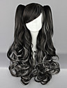Black and White Blended Curly Pigtails 70cm Gothic & Punk Lolita Wig