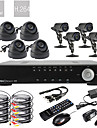 Ultra 8CH Real Time H.264 600TVL High Definition CCTV DVR Kit (8 Waterproof Day Night CMOS Cameras)