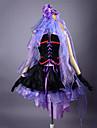 Inspirerad av Macross Frontier Sheryl Nome Animé Cosplay Kostymer/Dräkter cosplay Suits / Klänningar Lappverk Lila ÄrmlösKlänning /