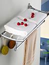 Sharks d chrome Porte-serviettes salle de bains materiel accessoires etagere de poisson en acier inoxydable plie salle de bain en verre