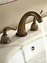 Robinet de salle de bain Sprinkle®  ,  Antique  with  Laiton antique 2 poignees 3 trous  ,  Fonctionnalite  for Separe