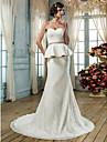 Trumpet/Mermaid Plus Sizes Wedding Dress - Ivory Court Train Sweetheart Lace