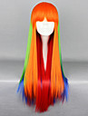 Darzzing Rainbow Multicolor 75cm Punk Lolita Wig