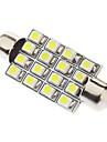 Feston 41mm 1.5W 16xSMD3528 White Light Ampoule LED pour la lampe de lecture de voiture (12V)