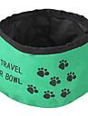 Pisici Câine Boluri & Sticle de Apă Animale de Companie  Castroane & Hrănirea Pliabil Roșu Verde Albastru Textil