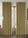 Un Panneau Le traitement de fenetre Moderne , Solide Salle de sejour Polyester Materiel Rideaux Tentures Decoration d\'interieur For