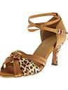 Chaussures de danse(Leopard) -Personnalisables-Talon Personnalise-Similicuir-Latine Salon