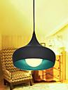 Modern minimalistisk 1 Lätt hänge med Anti-Rust Aluminium Shade