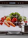 75x45cm motif de legumes chaud preuve sticker mural de cuisine resistant a l\'eau resistant a l\'huile